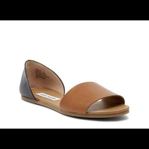 Steve Madden Cognac and Black sandals